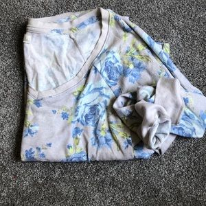 Abercrombie & Fitch blue flowery tunic